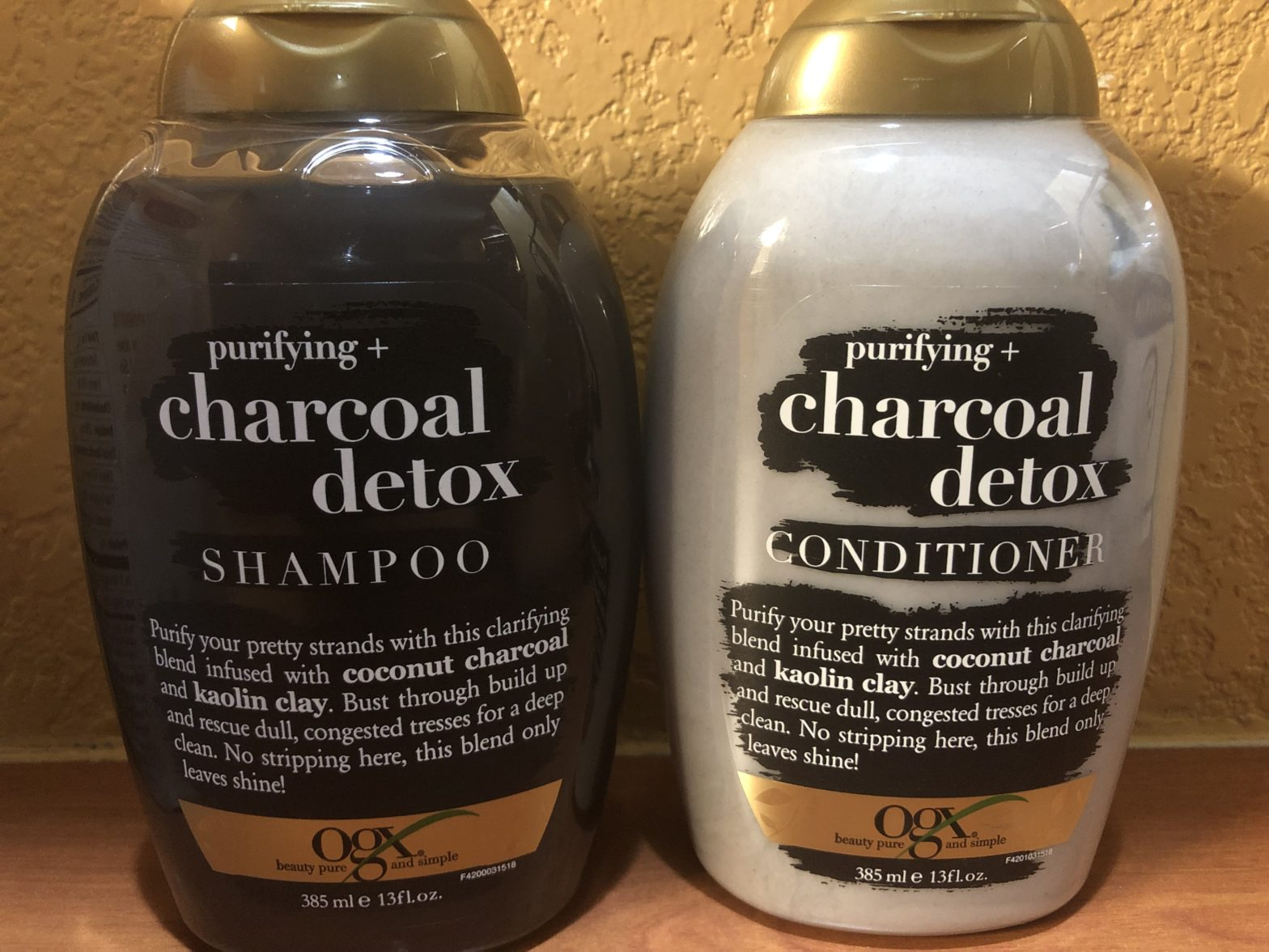OGX Charcoal Detox Shampoo and Conditioner